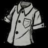 Silver Gray Buttoned Shirt скин
