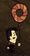 Наполовину использованный шарик