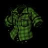 Being Uneasy Green Lumberjack Shirt скин
