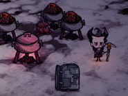 Свечение персонажа с термальным камнем