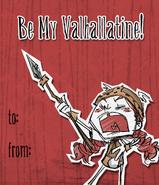 Карточка Вигфрид на Валентинов день