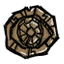 Тулецитовый медальон