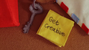 Key and post-it notes