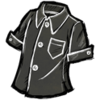 Buttoned Shirt Disilluminated Black
