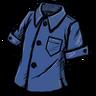 Buttoned Shirt (Blue Gem Blue)