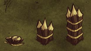 Drewniana palisada poziomy