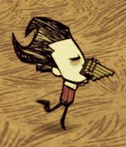 Wilson grający na flecie
