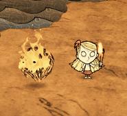 Płonące kłębowisko