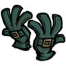Buckled Gloves Jungle Green