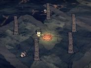Wyjscie z jaskini wulkanicznej