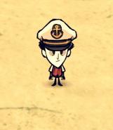 Wilson w kapeluszu kapitana