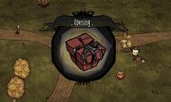 Rozpakowywanie prezentu w grze