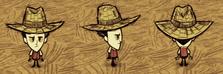 Wilson w słomianym kapeluszu