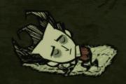 Futrzasty śpiwor i Wilson kładący się spać