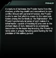 Prowler Codex Entry