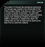 Carcass Codex Entry