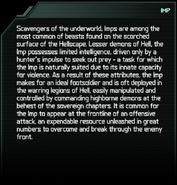 Imp Eternal Codex Entry