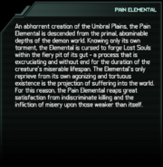 Pain Elemental Codex Entry