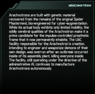 Arachnotron Codex Entry