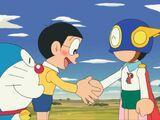 Doraemon and Perman's Close Call