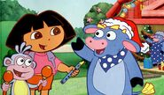 Dora-Benny-Santa-hat