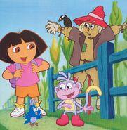 Dora boots baby blue bird scarecrow