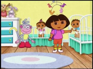 Dora th explorer dora babies and boots