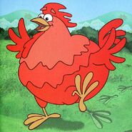 Dora-Big-Red-Chicken-footprints