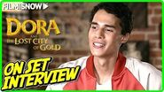 "DORA AND THE LOST CITY OF GOLD Jeff Wahlberg ""Diego"" On-set Interview"