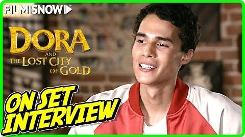 """DORA AND THE LOST CITY OF GOLD Jeff Wahlberg """"Diego"""" On-set Interview"""