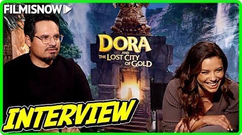 DORA AND THE LOST CITY OF GOLD Eva Longoria & Michael Peña talk about the movie