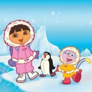 Dora And Boots Waddling Like A Penguin