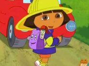 Dora The Explorer Firefighter Dora Backpack and Map