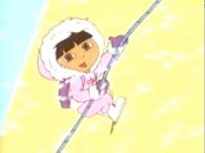 Dora climbing