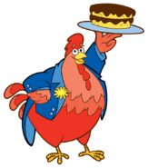 Dora-Big-Red-Chicken-fiesta-cake-stock-art