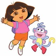 Dora Dancing With Boots