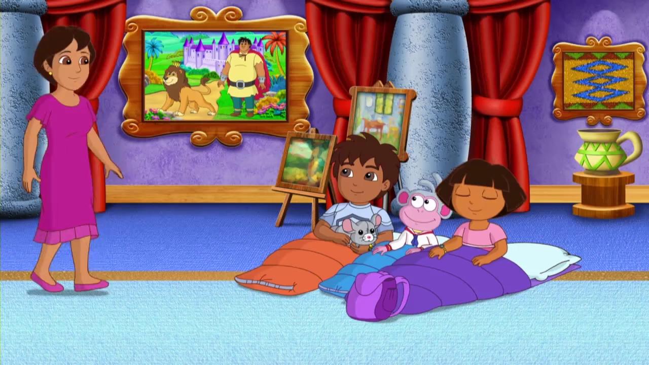 Dora's Museum Sleepover Adventure