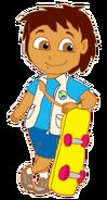 Diego with Skateboard 2