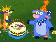 Swiper's birthday cake