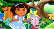Dora in wonderland in dora and boots