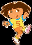 Dora playing soccer
