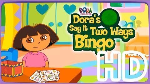 Dora The Explorer Dora's Say It Two Ways Bingo Full HD