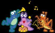 Dora-Fiesta-Trio-instruments-stock-art