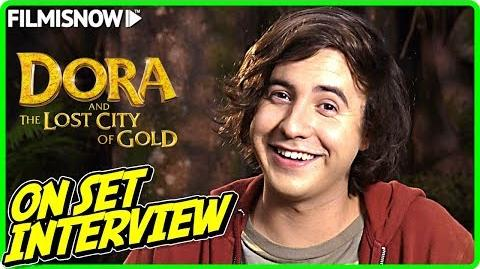 """DORA AND THE LOST CITY OF GOLD Nicholas Coombe """"Randy"""" On-set Interview"""