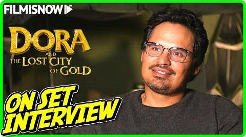 """DORA AND THE LOST CITY OF GOLD Michael Peña """"Dora's Father"""" On-set Interview"""