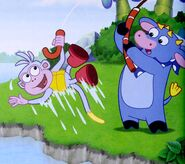 Dora-Benny-Boots-fishing
