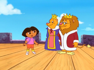 Dora and the Lion King and Queen