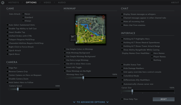 Game Settings Dota 2 Wiki