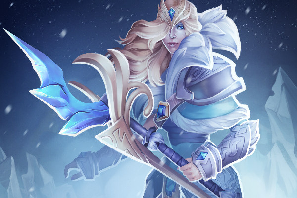 Crystal Maiden Dota 2 Immortals: Charge Of The Tundra Warden Loading Screen