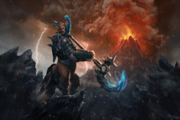 Cosmetic icon Might of the Galloping Avenger Loading Screen.png